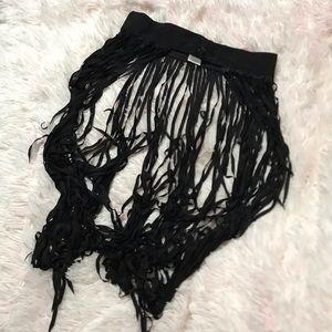 iHeartraves Fringe Skirt S